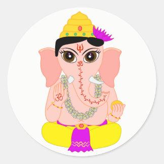 Wenig Ganesha Runder Aufkleber