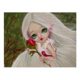 Wenig gotische Schönheits-Rosen-Gruß POSTKARTE