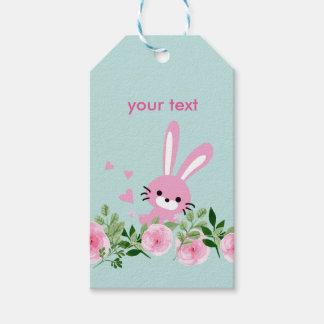 wenig Häschen, Kaninchen Geschenk-Umbauten Geschenkanhänger
