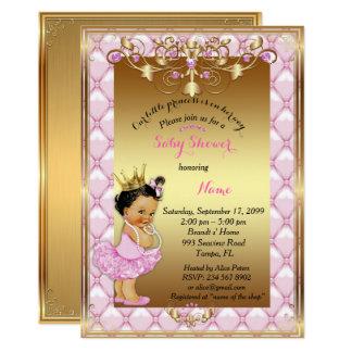 Wenig helle Haut Prinzessin, Babyparty-Einladung Karte