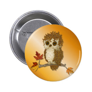 Wenig Herbst-Whoo Eule Runder Button 5,1 Cm