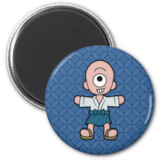 Wenig Hitotsume-kozo Yokai Runder Magnet 5,7 Cm