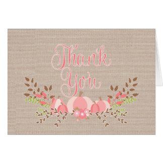Wenig Kürbis danken Ihnen Karten