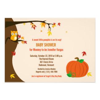 Wenig Kürbis-Fall-Herbst-Babyparty-Einladung