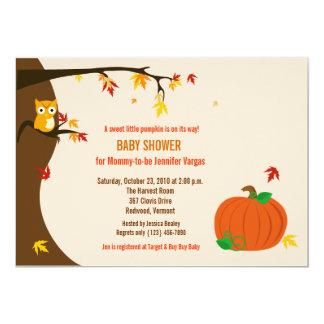 Wenig Kürbis-Fall-Herbst-Babyparty-Einladung 12,7 X 17,8 Cm Einladungskarte