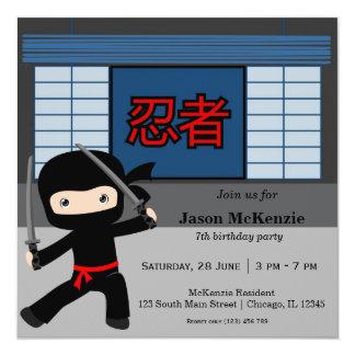 Wenig ninja Geburtstagsthema Karte
