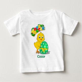 Wenig Ostern-Huhn-Cartoon Baby T-shirt