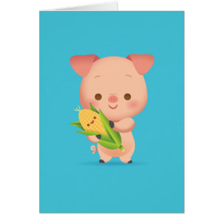 Wenig Piggy Notecard Karte