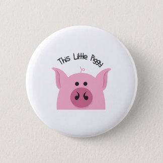 Wenig Piggy Runder Button 5,1 Cm