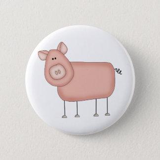 Wenig Piggy. Runder Button 5,1 Cm