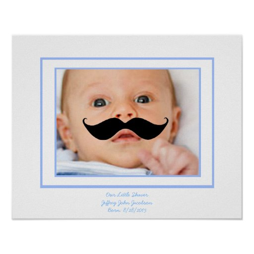 Wenig Rasierapparat-kundenspezifisches Baby-Plakat