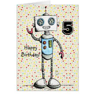 Wenig Roboter-alles- Gute zum Geburtstagkarte Karte