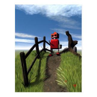 Wenig rote Roboter-Postkarte Postkarte