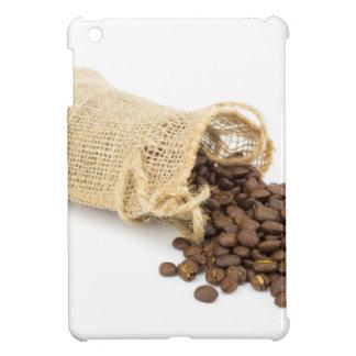 Wenig Sackleinen mit Kaffeebohnen iPad Mini Hülle