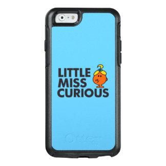 Wenig schwarze Beschriftung Fräulein-Curious | OtterBox iPhone 6/6s Hülle