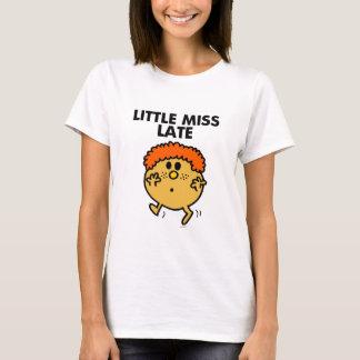 Wenig schwarze Beschriftung Fräulein-Late | T-Shirt