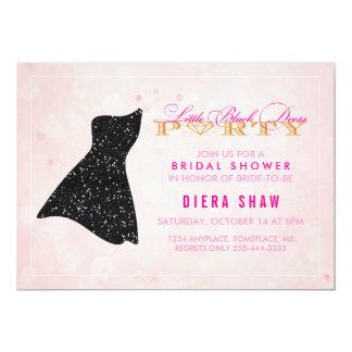 Wenig schwarze Kleiderduschen-Einladung 12,7 X 17,8 Cm Einladungskarte