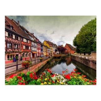 Wenig Venedig, zierliches Venise, in Colmar, Postkarte