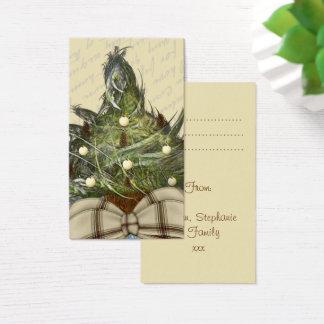 Wenig Weihnachtsbaum-Umbau-Entwurf Visitenkarte