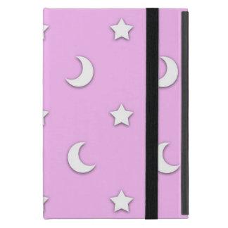 Wenig weiße Sterne und Monde auf Rosa Schutzhülle Fürs iPad Mini