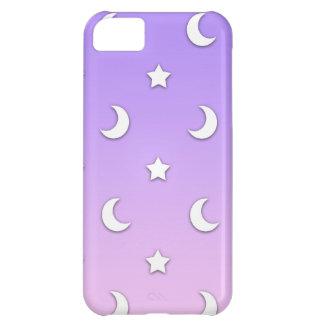 Wenig weißes Stern-und Mond-Muster iPhone 5C Hülle