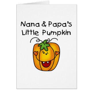 Wenige Kürbis-T - Shirts Nanas und des Papas Karte
