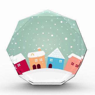 Wenige niedliche Winter Häuser. Ursprünglicher Auszeichnung