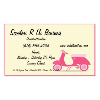 Wenige rosa Roller-Visitenkarten Visitenkarten