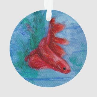 Wenige rote Betta Fische Ornament
