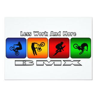 Weniger Arbeit und mehr BMX 12,7 X 17,8 Cm Einladungskarte