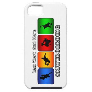 Weniger Arbeit und mehr Skateboarding iPhone 5 Schutzhülle