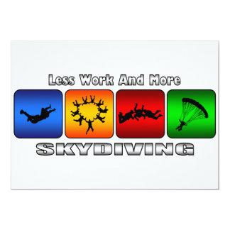 Weniger Arbeit und mehr Skydiving Karte
