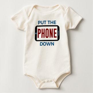 Weniger Telefon mehr Verbindungs-Menschen-Touch Baby Strampler