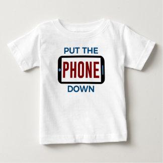 Weniger Telefon mehr Verbindungs-Menschen-Touch Baby T-shirt