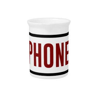 Weniger Telefon mehr Verbindungs-Menschen-Touch Getränke Pitcher