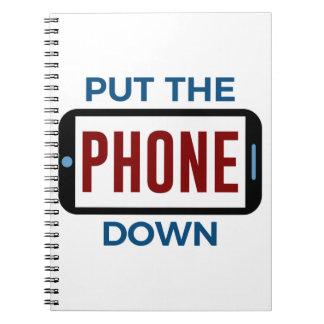 Weniger Telefon mehr Verbindungs-Menschen-Touch Spiral Notizblock