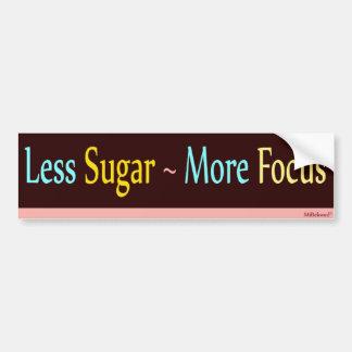 Weniger Zucker~ mehr Fokus Autoaufkleber