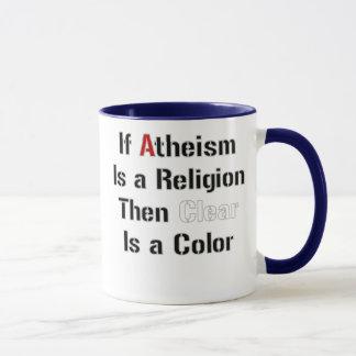 Wenn Atheismus ist, ist eine klare Religion dann Tasse