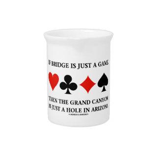 Wenn Brücke gerade ein Spiel-Grand- Canyonloch in Krug