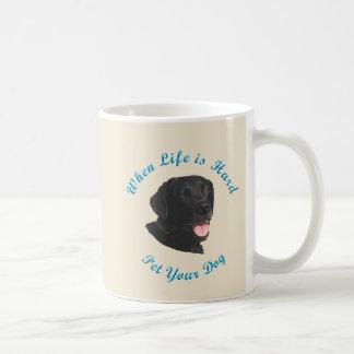 Wenn das Leben hart ist (Labrador retriever) Kaffeetasse