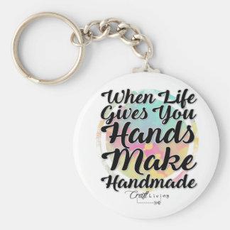 Wenn das Leben Ihnen Hände gibt, machen Sie Schlüsselanhänger
