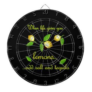 Wenn das Leben Ihnen Zitronen gibt Dartscheibe