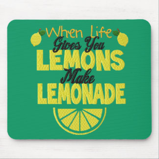 Wenn das Leben Ihnen Zitronen gibt (grünen Mauspads