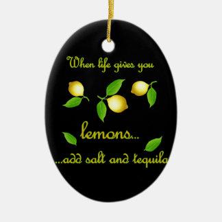 Wenn das Leben Ihnen Zitronen gibt Keramik Ornament