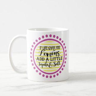 Wenn das Leben Ihnen Zitronen-Kaffee-Tasse gibt Kaffeetasse