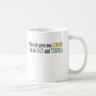Wenn das Leben Sie gibt, fragen Zitronen für Salz Kaffeetasse