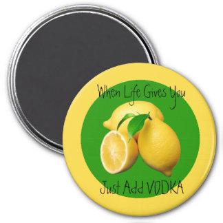 Wenn das Leben Zitronen-Spaß und lustige geben Kühlschrankmagnete