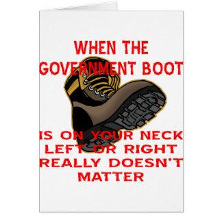 Wenn der Regierungs-Stiefel auf Ihrem verlassenen Karte