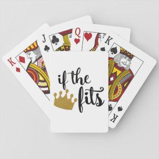 """""""Wenn die Krone"""" Spielkarten passt"""