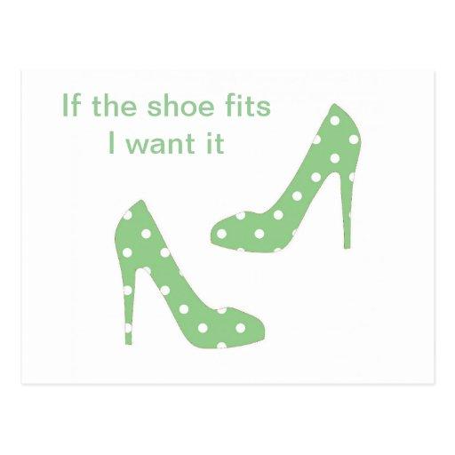 Wenn die Schuhsitze ich es wollen Postkarte